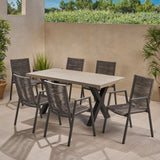 Outdoor Modern 6 Seater Dining Set - NH358013
