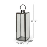 "24"" Modern Stainless Steel Lantern - NH172013"
