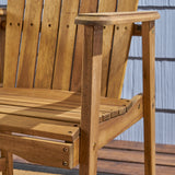 Outdoor Weather Resistant Acacia Wood Adirondack Dining Chairs (Set of 2) - NH989803