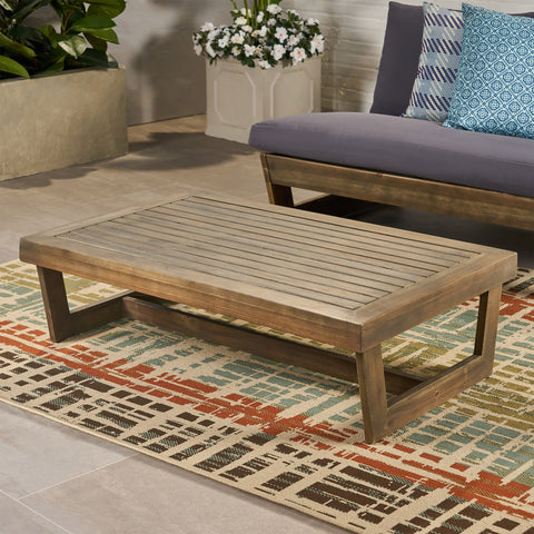 Outdoor Acacia Wood Coffee Table - NH710013