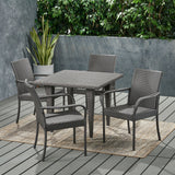 Outdoor Contemporary 4 Seater Wicker Dining Set - NH270113