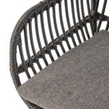 Indoor Woven Faux Rattan Chairs with Cushions (Set of 2) - NH382903