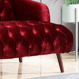 Modern Glam Tufted Velvet 3 Seater Sofa - NH193013