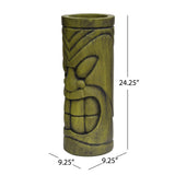 Outdoor Polynesian Urn, Antique Green Finish - NH852903