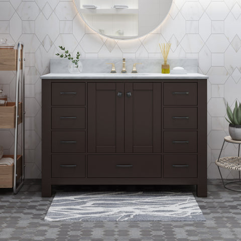 "48"" Wood Bathroom Vanity (Counter Top Not Included) - NH778703"