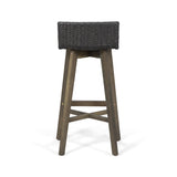 Outdoor Wood & Wicker Barstools (Set of 4) - NH360013