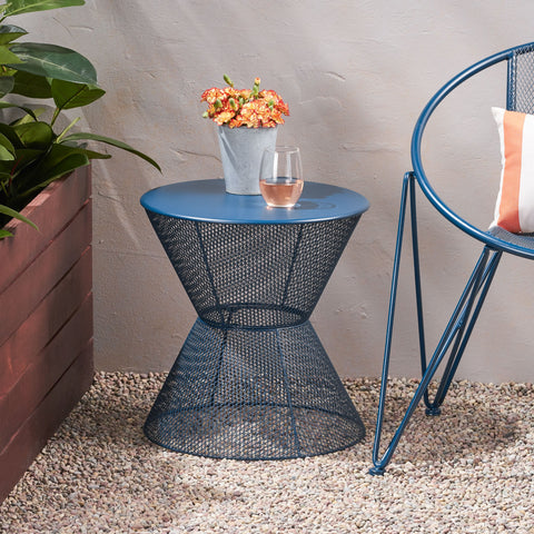 Modern Outdoor Iron Side Table - NH453013