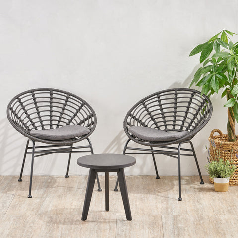 Outdoor 2 Seater Acacia Wood Chat Set - NH180013