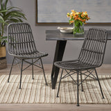 Indoor Wicker Dining Chairs (Set of 2) - NH989903