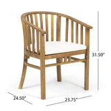 Outdoor Wooden Dining Chairs with Cushions (Set of 2) - NH162903