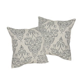 Modern Fabric Throw Pillows (Set of 2), Natural and Gray - NH224903