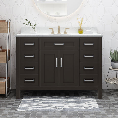 "48"" Wood Bathroom Vanity (Counter Top Not Included) - NH058703"