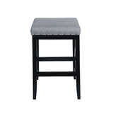 Contemporary Farmhouse Upholstered Fabric Barstools (Set of 2) - NH835903