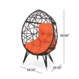 Indoor Wicker Egg Chair with Cushion - NH323113