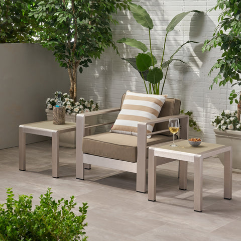 Outdoor Aluminum Side Table (Set of 2) - NH501903