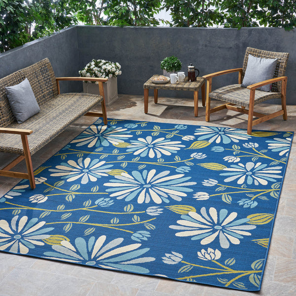Outdoor Floral Area Rug - NH535803