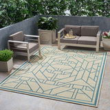 Outdoor Geometric Area Rug - NH935803