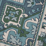 Outdoor Oriental Area Rug, Ivory and Blue - NH185803