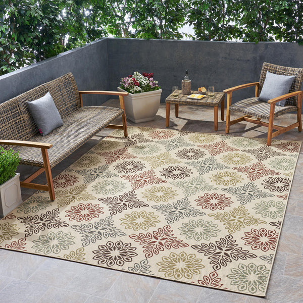 Outdoor Medallion Area Rug - NH595803