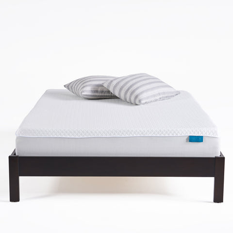 "10"" Medium Soft Cool to Touch Mattress, White and Gray - NH667903"
