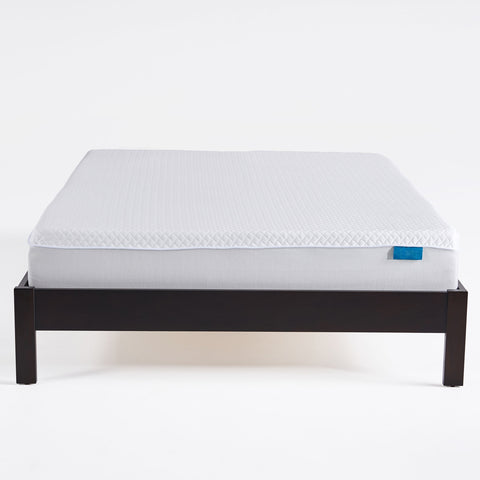 "10"" Medium Firm Cool to Touch Mattress, White and Gray - NH567903"