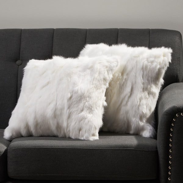 Glam Fur Pillow Cover (No Filling Included) (Set of 2) - NH083013