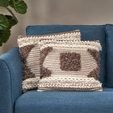 Boho Cotton Throw Pillow - NH706113