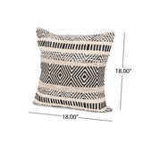 Boho Cotton Throw Pillow (Set of 2) - NH406013