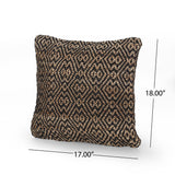 Boho Jute and Cotton Throw Pillow (Set of 2) - NH806013