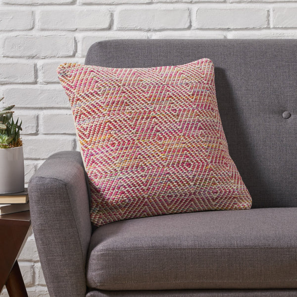 Boho Cotton Throw Pillow - NH726013