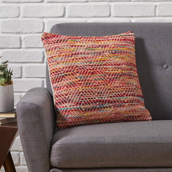 Boho Cotton and Wool Pillow Cover - NH926013