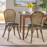 Beech Wood and Rattan Dining Chair (Set of 2) - NH313013