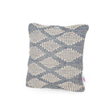Boho Cotton and Wool Throw Pillow - NH691213