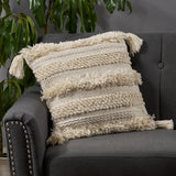 Boho Yarn and Cotton Pillow Cover - NH317013