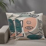 Modern Cotton Throw Pillow (Set of 2) - NH932113
