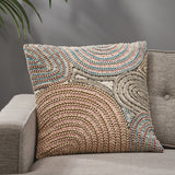 Boho Cotton Throw Pillow - NH672113