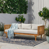 Outdoor 3 Seater Acacia Wood Daybed - NH441313