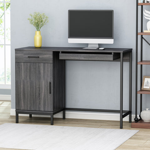 Contemporary Faux Wood Computer Desk - NH598013