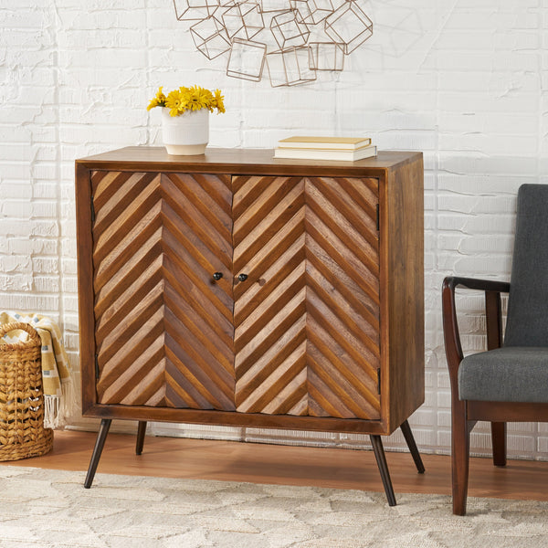 Mid-Century Modern Handcrafted Mango Wood Sideboard - NH291113