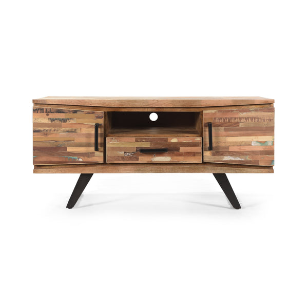 Handcrafted Boho Reclaimed Wood TV Stand - NH700113