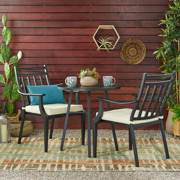 Outdoor 3 Piece Bistro Set with Cushions - NH505113
