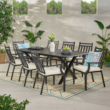 Outdoor 9 Piece Dining Set with Expandable Table - NH868113