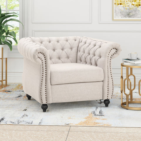 Chesterfield Fabric Club Chair - NH463013