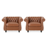 Traditional Chesterfield Club Chairs (Set of 2) - NH962313