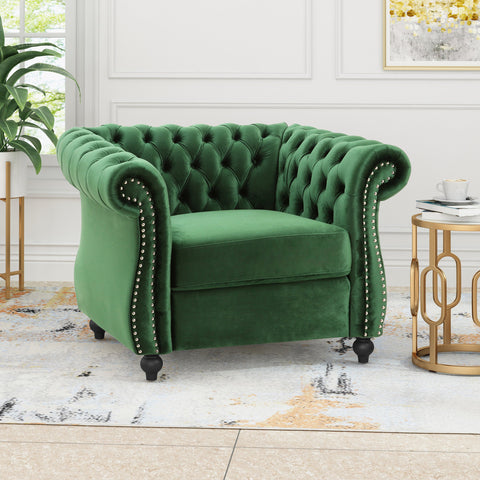 Chesterfield Velvet Club Chair - NH263013
