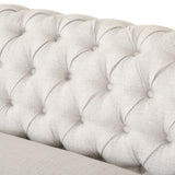 6 Seater Tufted Fabric Chesterfield Sectional - NH214013
