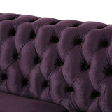 6 Seater Tufted Velvet Chesterfield Sectional - NH404013