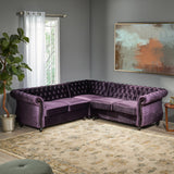 5 Seater Tufted Velvet Chesterfield Sectional - NH604013