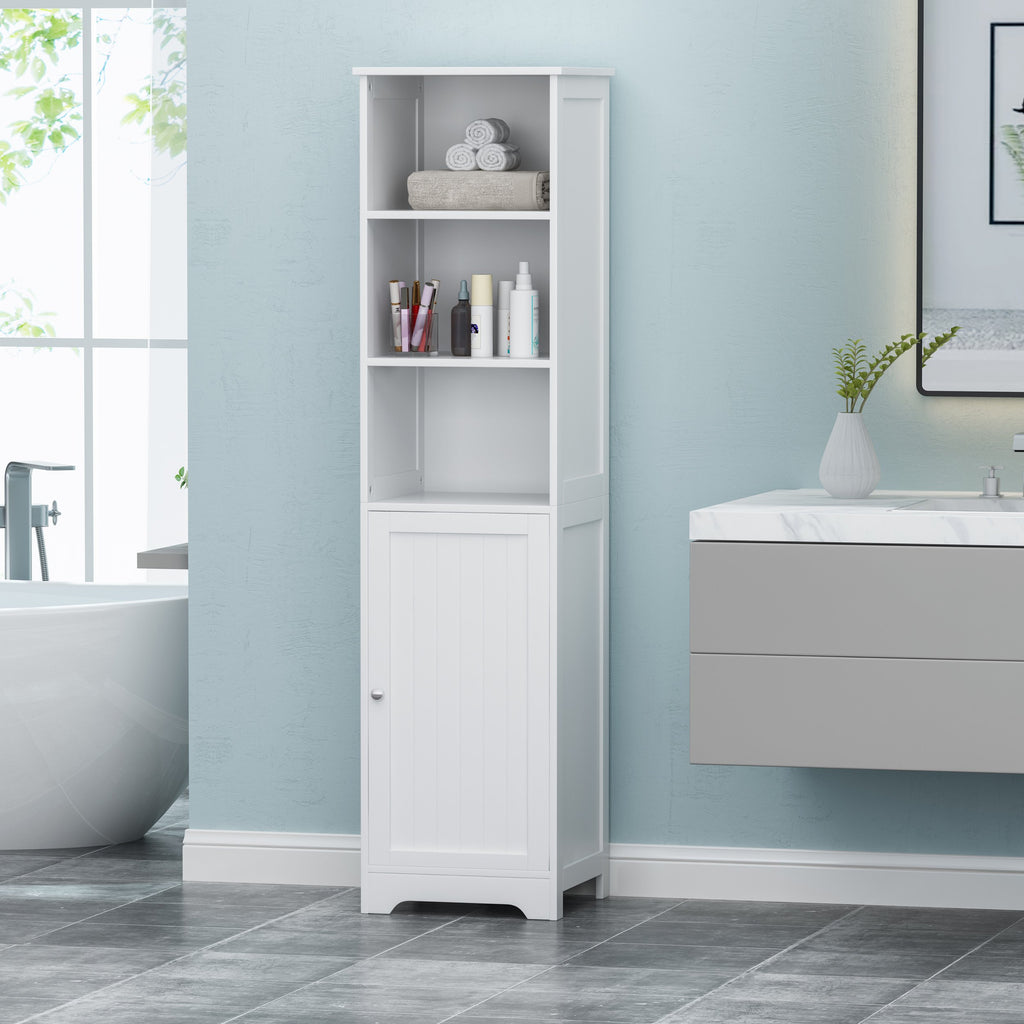 contemporary free standing linen tower storage bathroom cabinet - nh49 - noble house furniture
