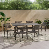 Traditional Outdoor Aluminum 7 Piece Dining Set - NH823213